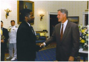 Wendell with Clinton